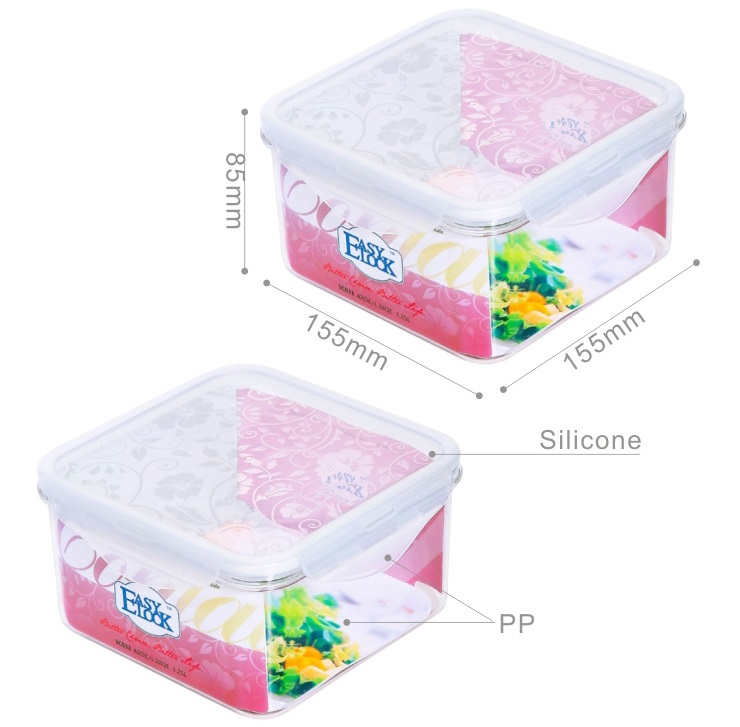 Large Children Plastic Food Storage Containers with Lids