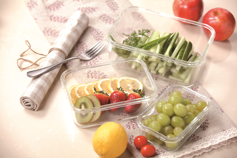 High Borosilicate Glass Food Containers