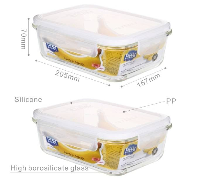 Microwave Oven Safe Glass Food Storage Containers,