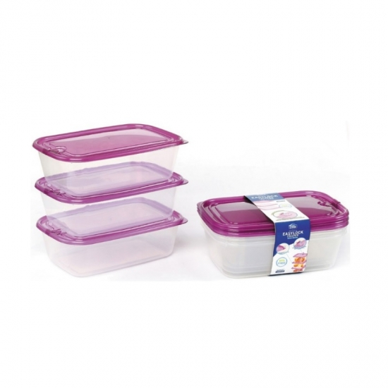 Microwavable Food Storage Containers With Airtight Lock Lid