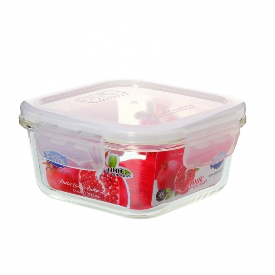 Easy Lock Oven Safe Heat Resistant Glass Food Container