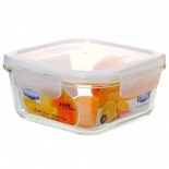 Heat Resistant Square Glass Food Container